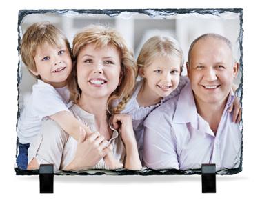 echte schiefertafel mit ihrem foto bedruckt. Black Bedroom Furniture Sets. Home Design Ideas