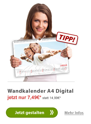 Wandkalender A4 Digital